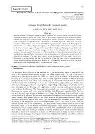 buriganga river pollution its causes and impacts pdf download