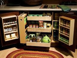 fascinating blind corner base cabinet organizer with spice rack