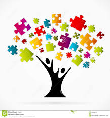 puzzle tree stock vector image of vision background 45099127