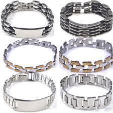 silver bracelet styles images Trendy silver black silicone stainless steel bracelets for men jpg