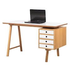 Schmaler Schreibtisch Schreibtisch Why Wood Weiß Eiche Bürotisch Arbeitstisch