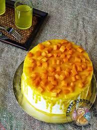 Kek Mango syapex kitchen mango mousse cake