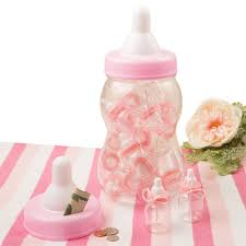 baby bottle favors pink baby bottle bank with 16 small bottle favors discount
