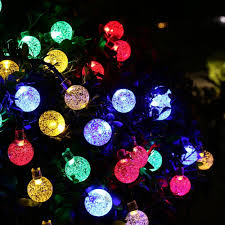 Multi Colored Solar Garden Lights by Multi Color 30 Led Crystal Ball String Lights Solar Powered