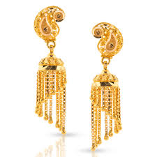 gold jhumka earrings design with price miti beaded gold jhumkas jewellery india online caratlane