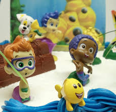 amazon com bubble guppies 20 piece birthday cake topper set