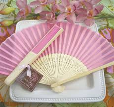 silk fans pink silk wedding fans wedding favor fan
