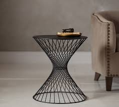 Accent Side Table Porter Wire Accent Side Table Pottery Barn
