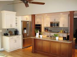 kitchen island with posts custom kitchen and island in traditional style products i