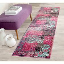 Pink Runner Rug Safavieh Monaco Farran Abstract Area Rug Or Runner Walmart