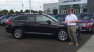 subaru outback interior 2017 2017 subaru outback limited touring in brilliant brown larry h