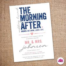 after wedding brunch invitation wording the morning after wedding brunch invitation 5 x 7 digital file