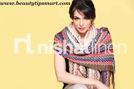 nishat linen shawls 2017 with prices winter collection