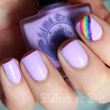 pastel purple rainbow manicure polish or die