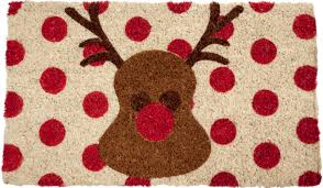 Holiday Doormat Doormat Rudolph Carol Johnston