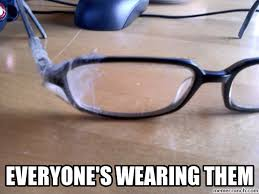 Broken Glasses Meme - glasses