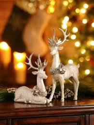 White Christmas Reindeer Decorations by Amazon Com Christmas Reindeer Statue Figurine Sculpture 14