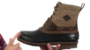 sperry top sider decoy boot wool sku 8717299 youtube
