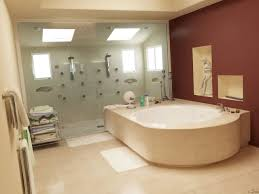 square sink under wall mirror mounted beige bathroom floor tiles