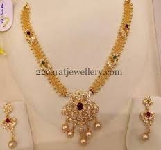gold short chain necklace images Simple mesh chain necklace 40gms jewellery designs jpg