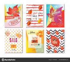 half price gift cards mid season sale banners set autumn sale discount gift card fall