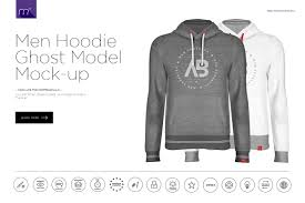 men hoodie ghost model mock up product mockups creative market
