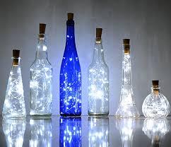 cork shaped rechargeable bottle light 6 pack 20 leds spark i wine bottle light ansaw cork shape battery