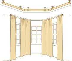 Curtain Rod Ceiling Mount How To Bay Windows Curtain Rods Drapery Rods Rings