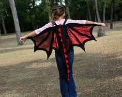 Red Wings Halloween Costume Dragon Wings U0026 Tail Costume Kids Age 1