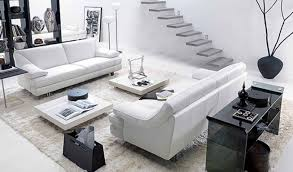 Living Room With Black Furniture by Adorable White Living Room Furniture With Modern White Furniture