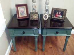 antique wood end tables yard sale old wooden end tables refurbished into 2 tone gorgeous