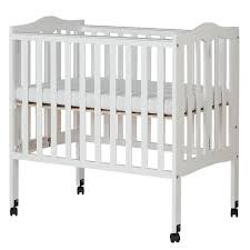 Folding Mini Crib by Dream On Me 2 In 1 Lightweight Portable Folding Crib Natural