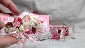 shabby chic valentine u0027s pillow boxes youtube