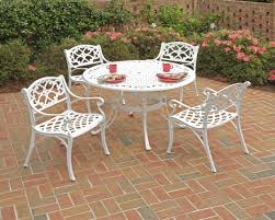 Patio Furniture Metal Sets by Wonderful White Outdoor Furniture All Home Decorations