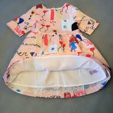 high end luxury designer cute letter print baby dress