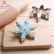 1piece stainless steel christmas cookie tool snowflake shape