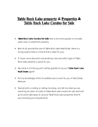 table rock lake property for sale table rock lake condos for sale table rock lake real estate