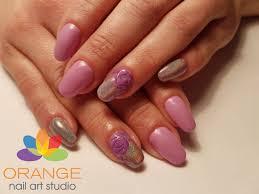 orange nail art images nail art designs