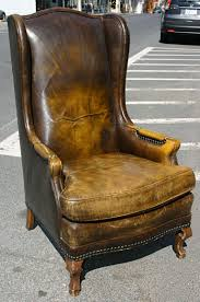 Restoration Hardware Leather Chair Chair Cognac Leather Wingback Chair At 1stdibs Nz Leatherwingcha