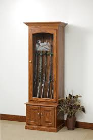 wood cabinets with glass doors amish gun cabinets oak cherry maple gun cabinets