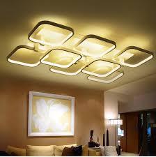 Creative Bedroom Lighting Led Rectangle Square Acrylic Ceiling Light Simple Modern Creative