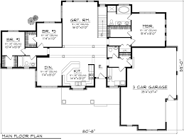 Single Story Ranch Style House Plans Ranch Style House Plan 3 Beds 2 50 Baths 2080 Sq Ft Plan 70 1134
