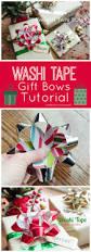 craftaholics anonymous washi tape gift bows tutorial makeamazing