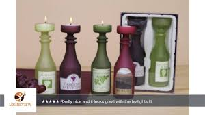 unique wine bottles wine bottle candle holder tea light glass holder set of 2 unique