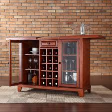Crosley Sideboard Crosley Furniture Newport Sliding Top Bar Cabinet In Classic