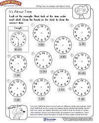 education world telling time worksheet download