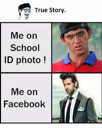 True Story Meme Generator - true story me on school id photo me on facebook facebook meme on me me