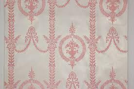 Wallpaper Border Designs 1970s Vintage Wallpaper Pink Victorian Flocked Design Rosie U0027s