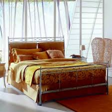 vintage style of wrought iron queen bed frame modern wall