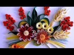 Paper Flowers Video - art u0026 craft how to make beautiful quilling orange white flower